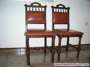 2 sillas antiguas, centenarias, para restaurar