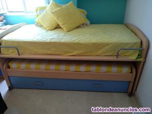 Dormitorio cama nido infantil joven