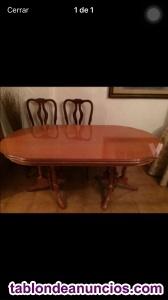 Mesa y seis sillas comedor