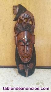 Vendo mascara en madera tallada nueva