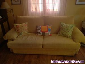 Vendo lote de sofá cama y juego de dos mesitas multiusos de