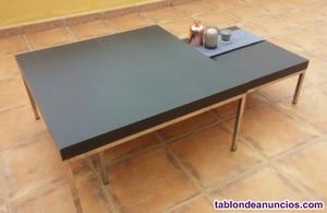 Conjunto de mesas negras