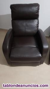 Se vende sofá color wengué