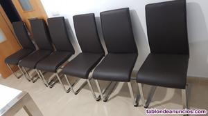 Se venden 6 sillas de comedor