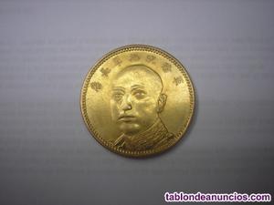 China, 10 yuan de oro macizo de . Provincia de yun-nan