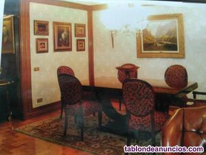 Mesa comedor 1,80 x 1,00 con 2 extensiones de 0,50 chapeado