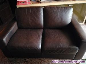Vendo sofas cuero 2 + 3 plazas