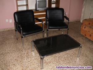 Conjunto dos sillones y mesa