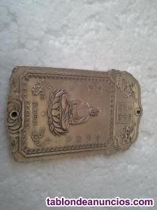 Exclusivo lingote de plata tibetana con simbología de un