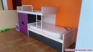 Composicion 3 camas + armario