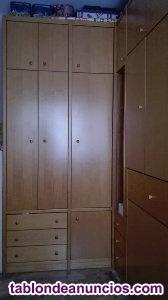 Dormitorio juvenil, con literas abatibles en horizontal