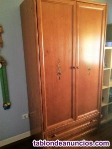 Dormitorio puente completo madera cerezo maciza