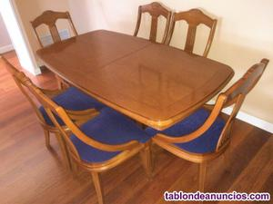 Salón completo madera cerezo maciza