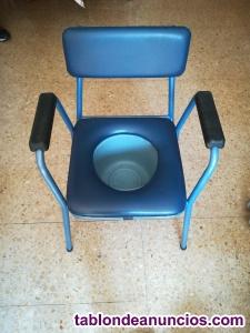 Silla de ruedas, andador y silla para hacer sus necesidades,