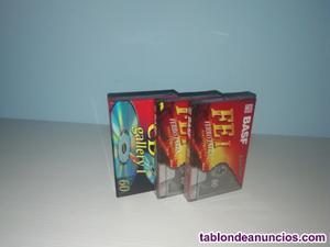 3 cintas de cassette nuevas en venta + regalo
