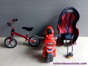 Bicicleta sin pedales,moto y silla de bicicleta para niños