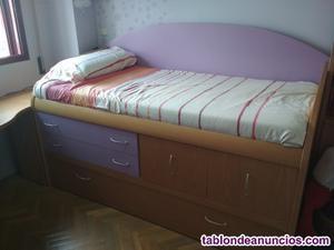 Dormitorio juvenil teca lacada