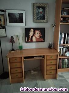 Muebles dormitorio- armario, escritorio, estanterías