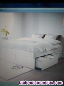 Vendo cama brimnes de ikea por traslado nueva y desmontada