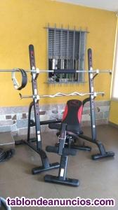 Vendo equipo musculación, pesas, banco