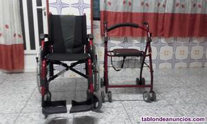Vendo silla de ruedas nueva y andador