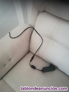 2 sillones relax eléctrico de tela