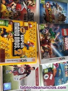 Vendo lote de 6 juegos para nintendo 3ds