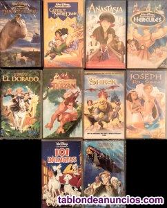 Colección de 11 películas clásicas de disney (vhs) - en
