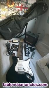 Guitarra electrica fender squier bullet strat +amplificador