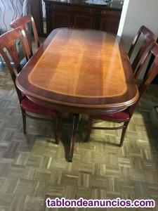 Conjunto mesa de comedor con 6 sillas