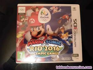Mario&sonic rio  consola nintendo 3ds y 2ds