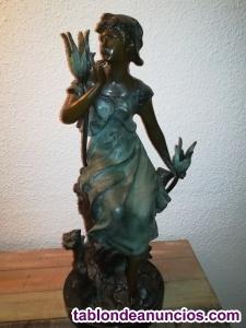 Figura de mujer bronce s xx