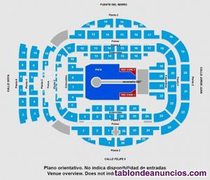 Vendo 2 bolis + regalo entradas u2 madrid 20 sept