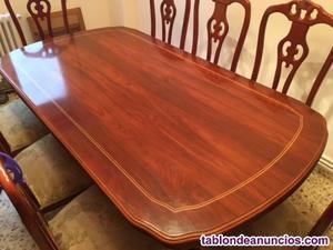 Mesa comedor y 8 sillas