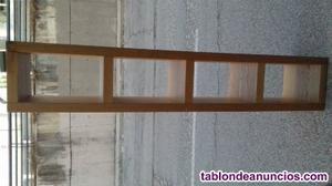 Estanteria de madera maciza 190 cm alto