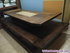 Mesa de centro para comedor teca maciza