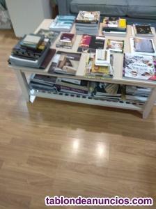 Se vende mesa centro madera color blanca seminueva
