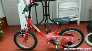Vendo bici niño y trona bebe, buen estado