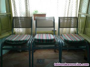 Venta. Juego de sillas para exterior e interior