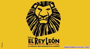 Vendo 2 entradas musical rey leon