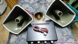 Vendo amplificador y altavoces