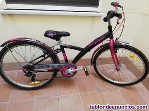 Bicicleta de niña de 24 pulgadas