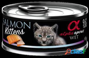 Alpha Spirit Comida Húmeda para Kitten de Salmón 85 GR