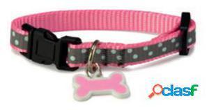 Arquivet Collar perro reflectante rosa 1,9x35/50 cm.