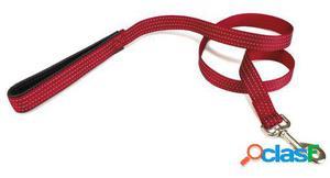 Arquivet Correa Nylon Liso Rojo 1.5 X 120 Cm Negro