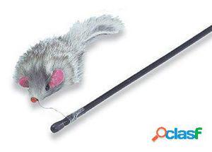Axis-Biozoo Caña para Gatos Con Peluche Ratón 100 GR