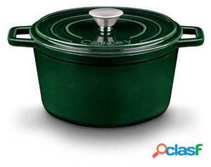Castey Cazuela Alta Hierro Color Verde Oscuro 18 cm