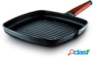 Castey Grill Induction Con Mango Desmontable Madera 27x27 cm