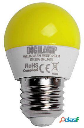 Digilamp Bombilla amarilla E27 3W