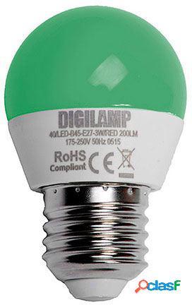 Digilamp Bombilla verde E27 3W